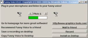 Change voice Pitch