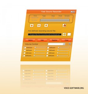 Sound recorder software interface